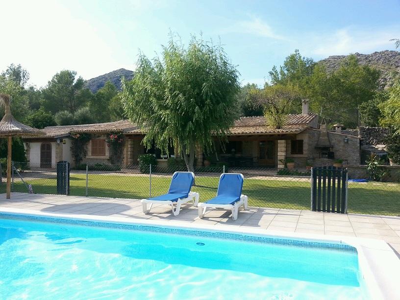 parasol property rentals, Jan Dexter, Puerto Pollensa, Mallorca, villa, swimming pool,