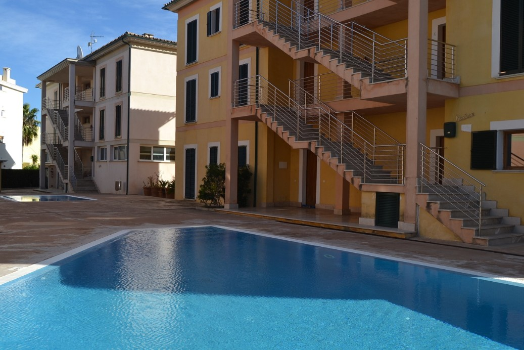 two bedroom family apartment with communal pool Puerto Pollensa Mallorca