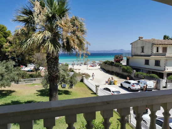 Sea front beach apartments in Alcudia