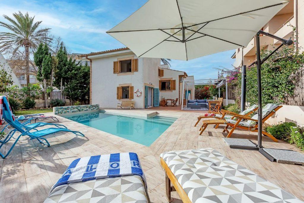 Casa Alexander large family holiday villa rental Puerto Pollensa close to beach